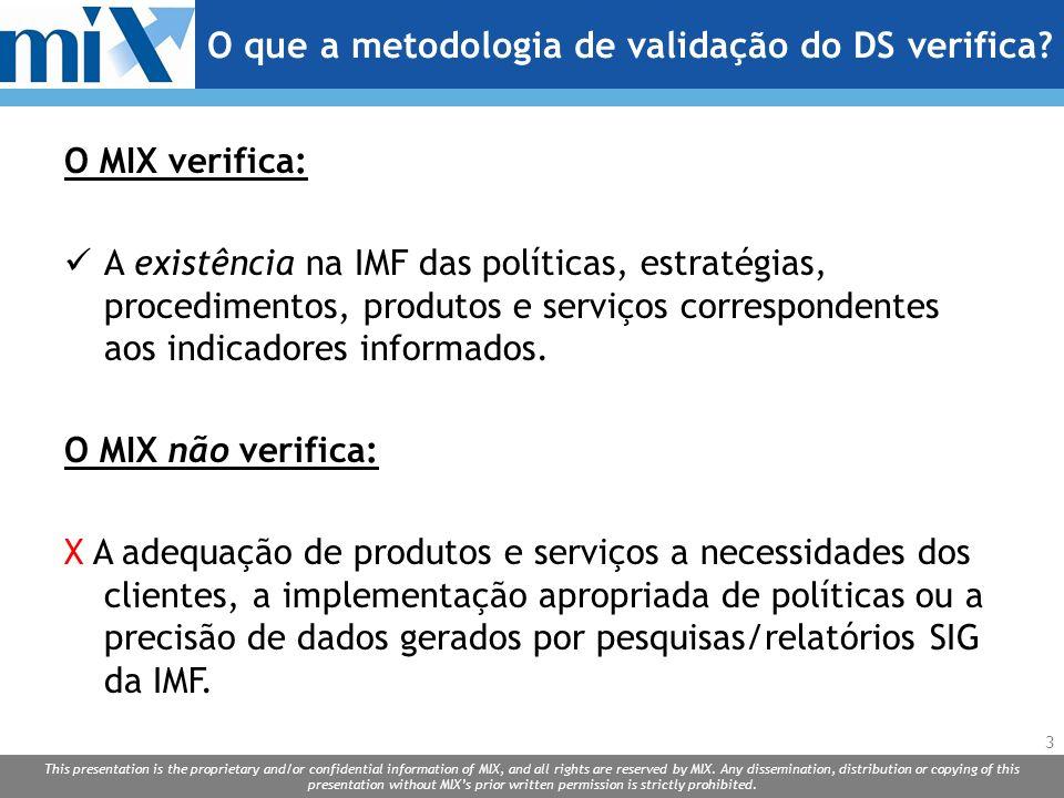 O que a metodologia de validação do DS verifica