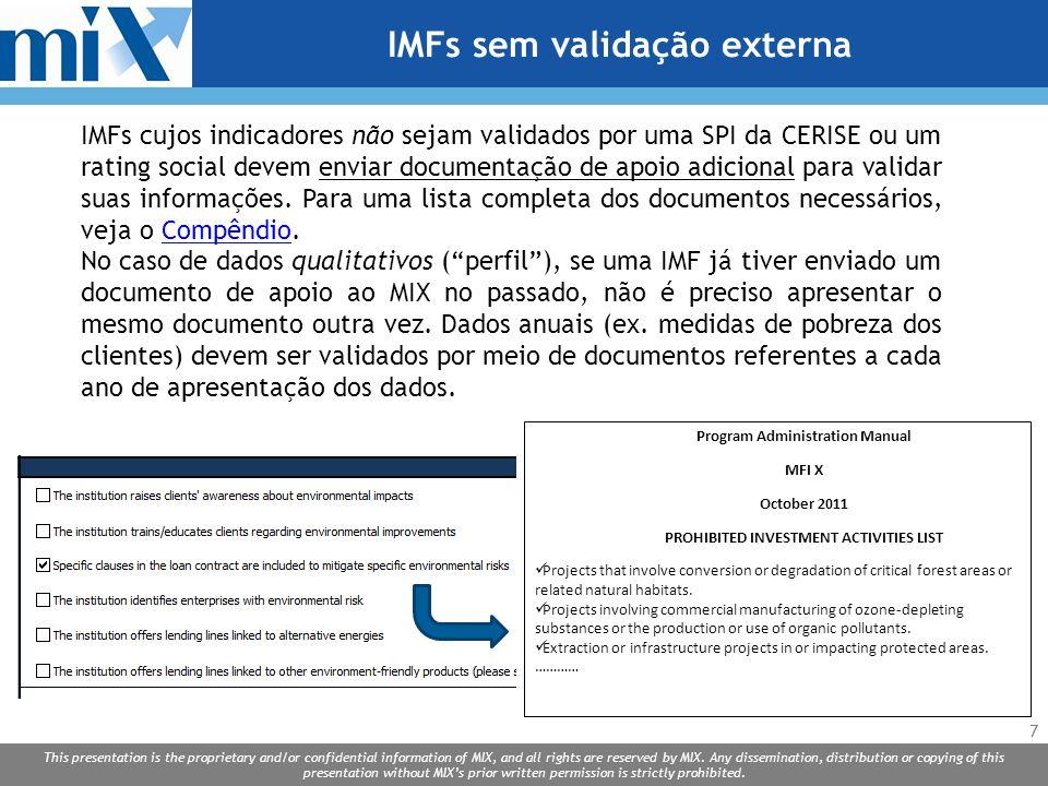 IMFs sem validação externa