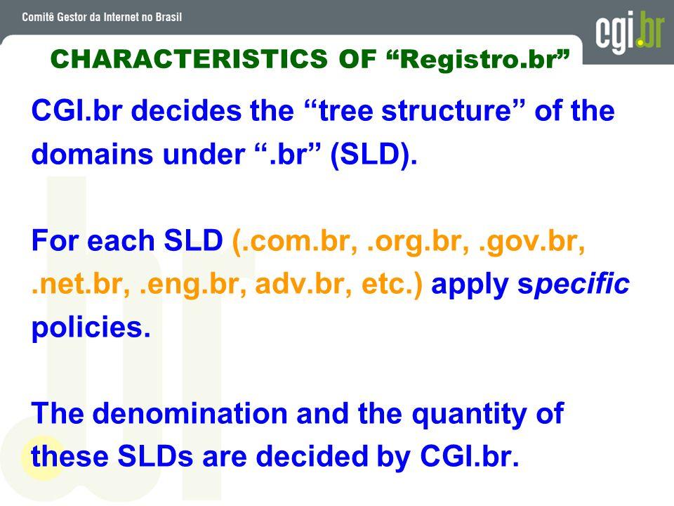 CHARACTERISTICS OF Registro.br