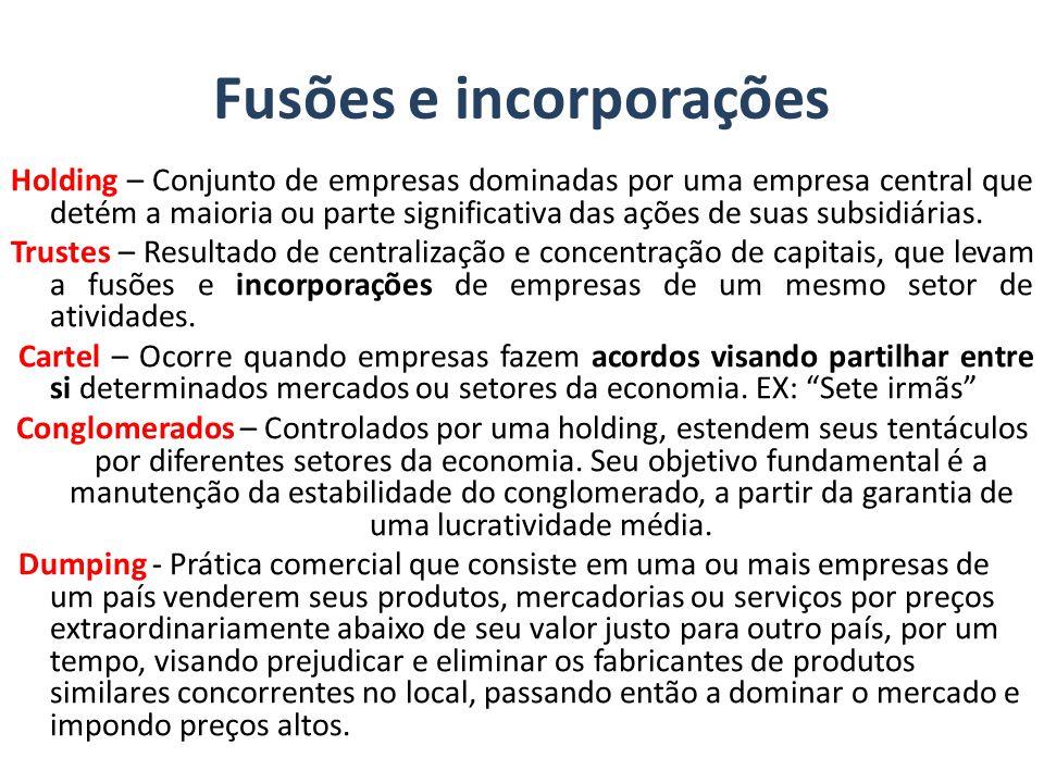 Fusões e incorporações