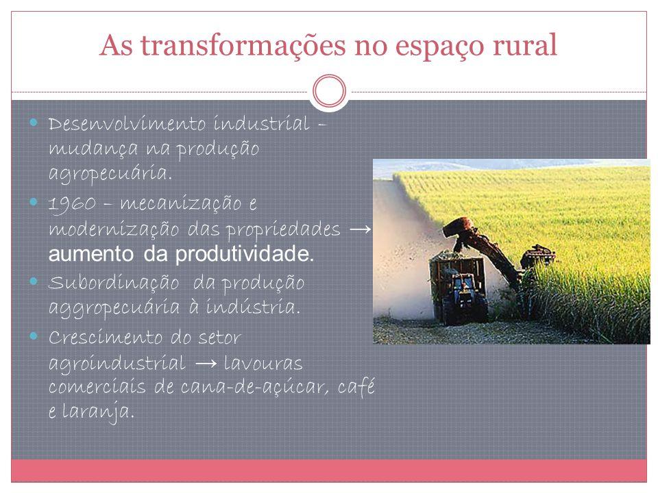 As transformações no espaço rural