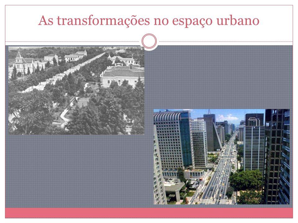 As transformações no espaço urbano