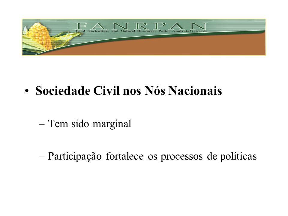 Sociedade Civil nos Nós Nacionais