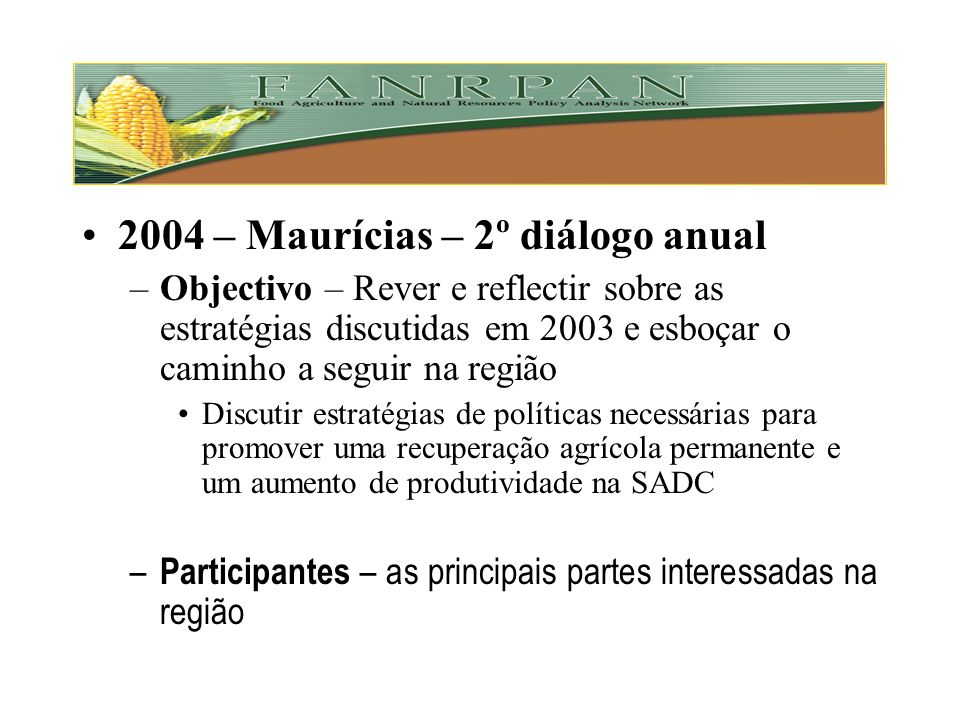 2004 – Maurícias – 2º diálogo anual