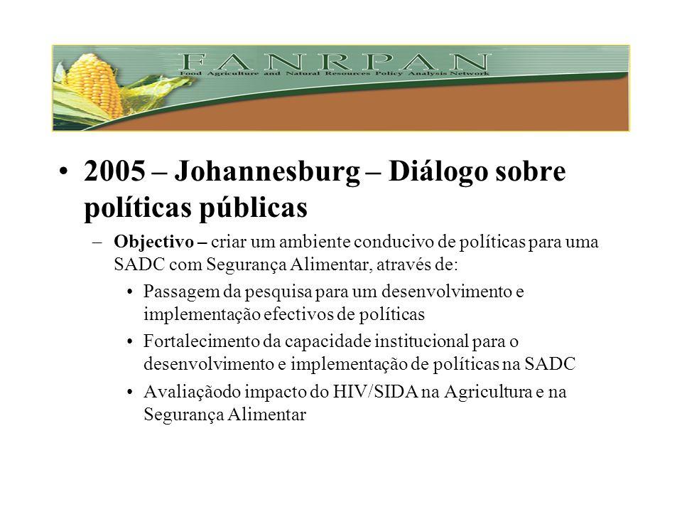 2005 – Johannesburg – Diálogo sobre políticas públicas