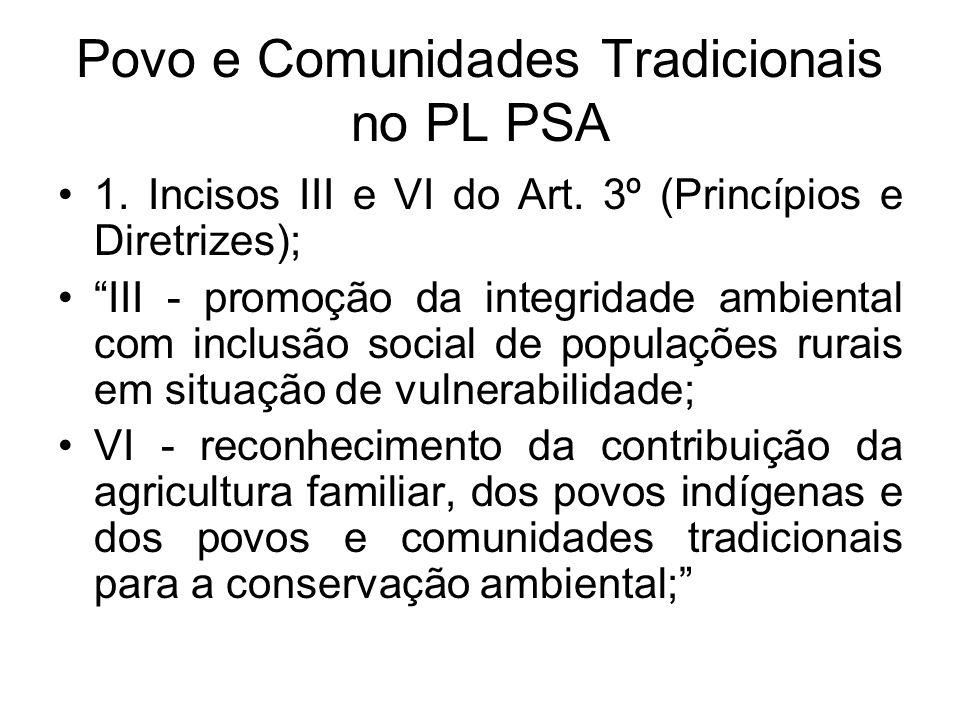 Povo e Comunidades Tradicionais no PL PSA
