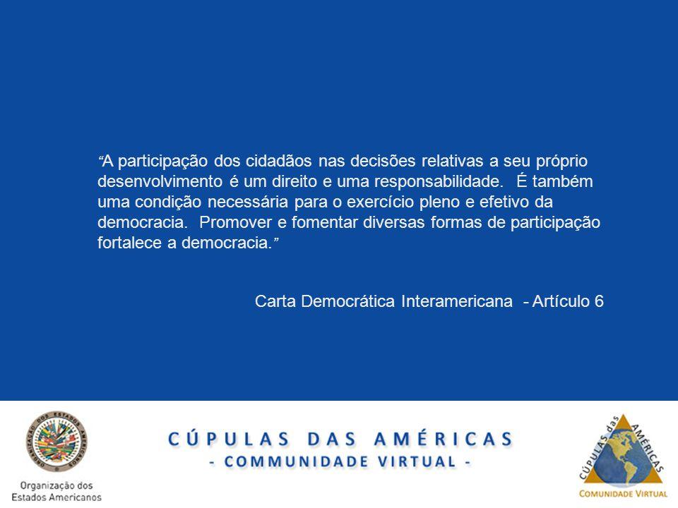 Carta Democrática Interamericana - Artículo 6