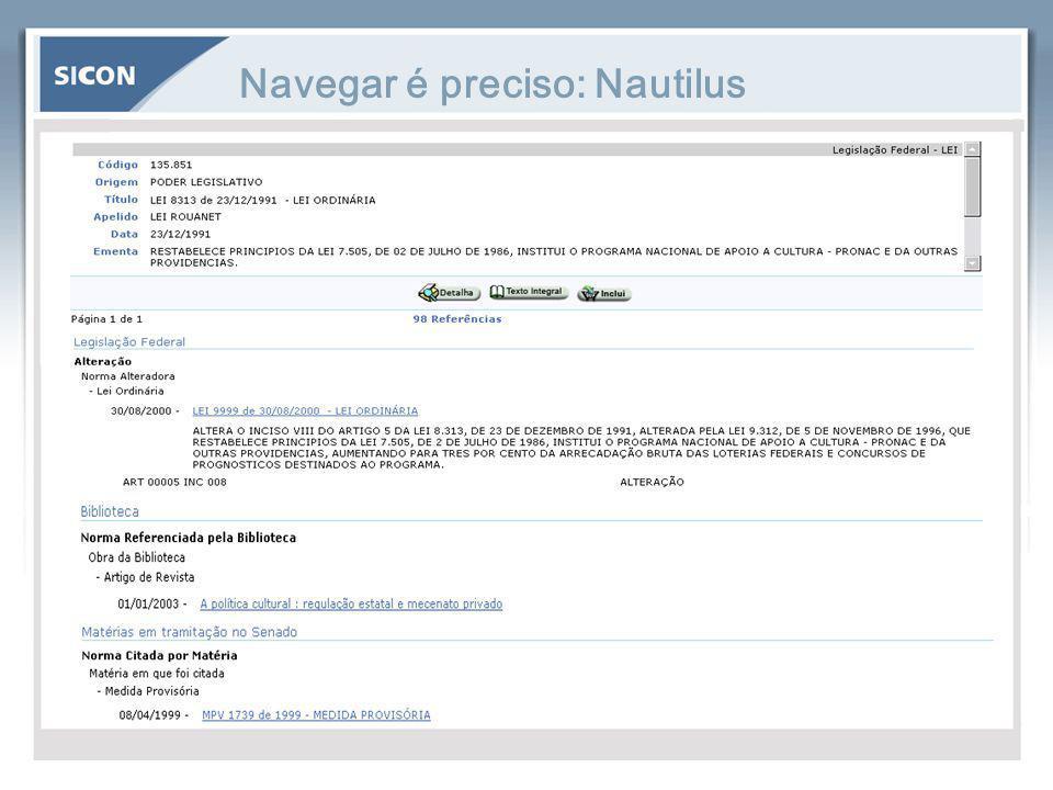 Navegar é preciso: Nautilus