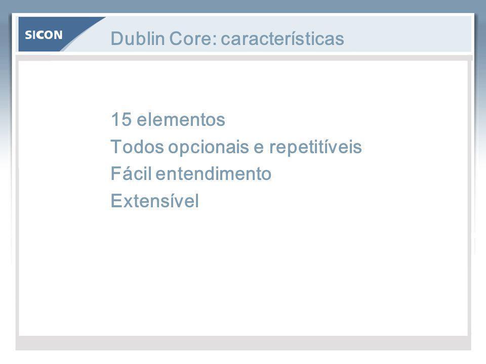 Dublin Core: características