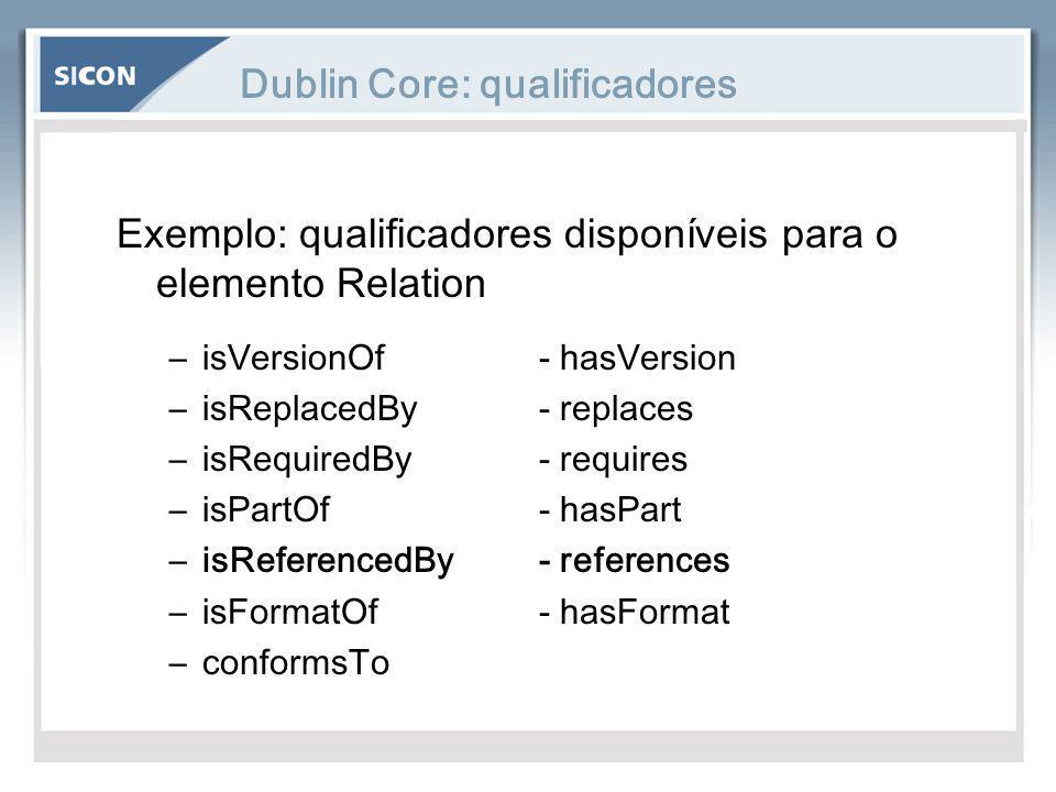 Dublin Core: qualificadores