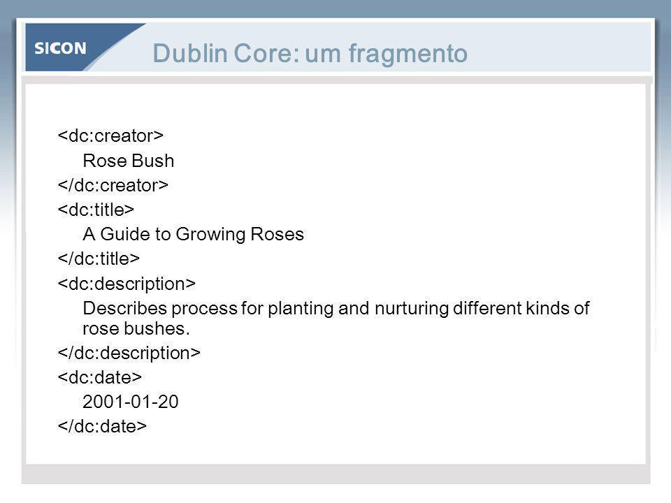 Dublin Core: um fragmento