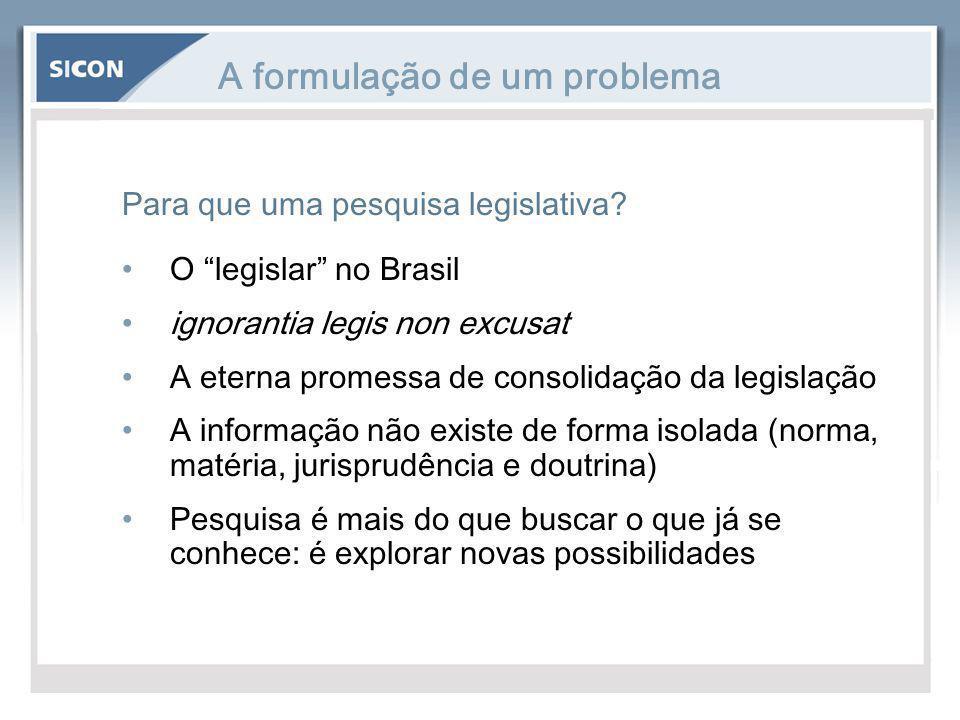 A formulação de um problema