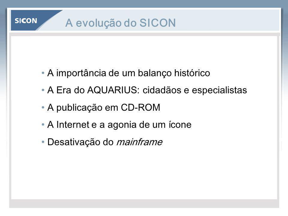 A evolução do SICON A importância de um balanço histórico