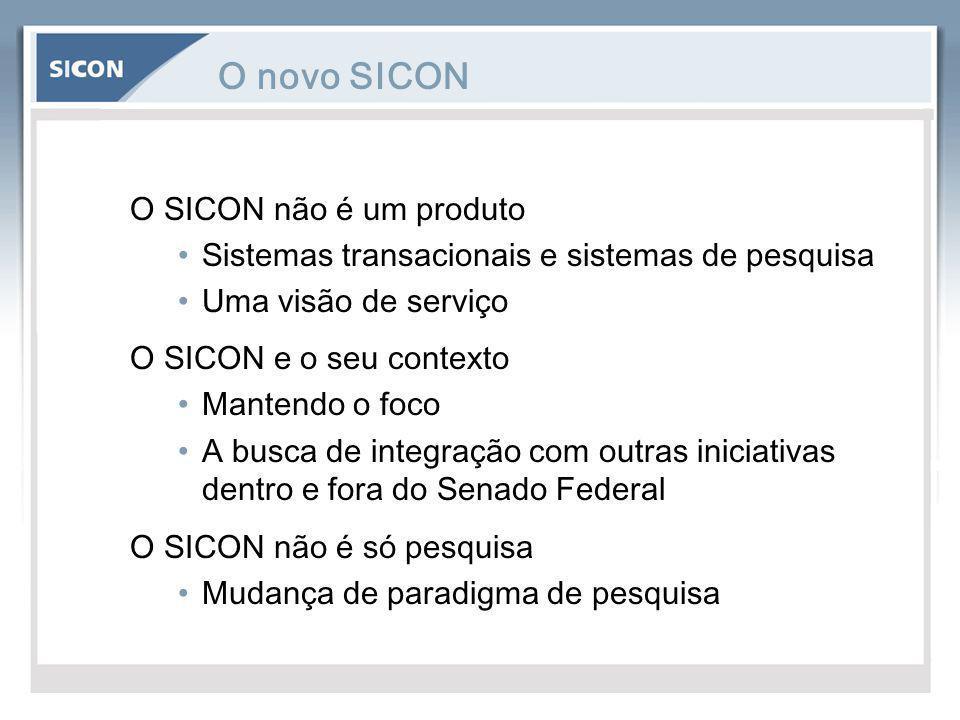 O novo SICON O SICON não é um produto