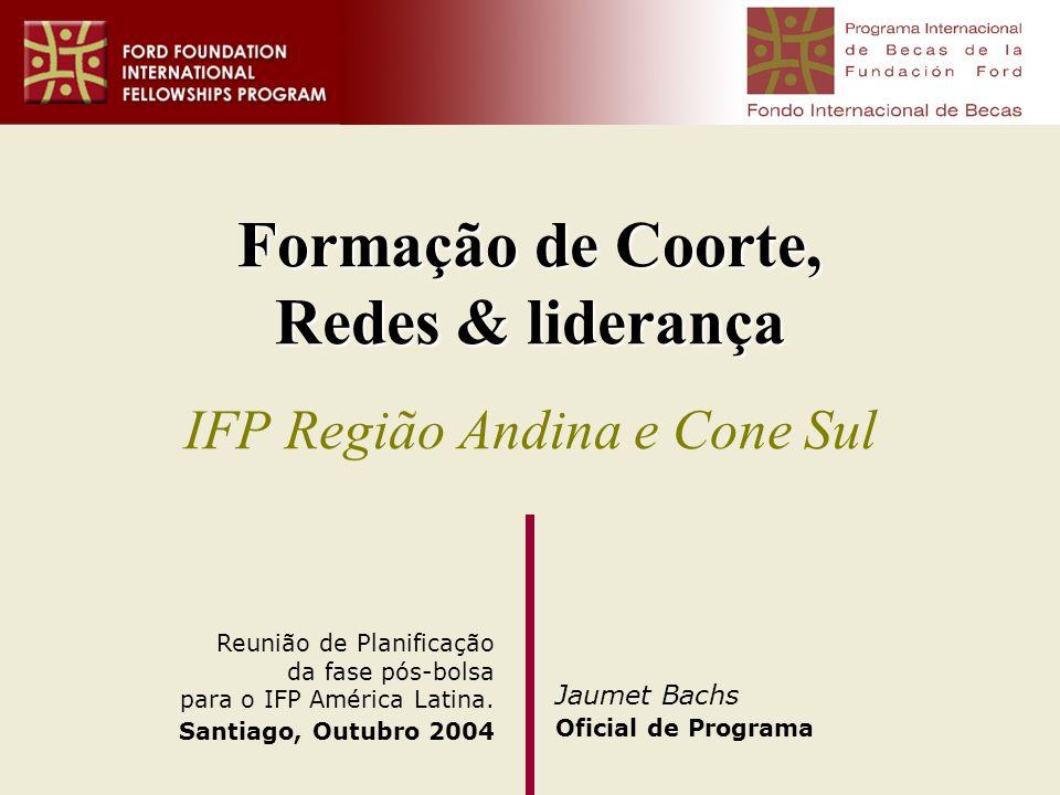 Formação de Coorte, Redes & liderança IFP Região Andina e Cone Sul