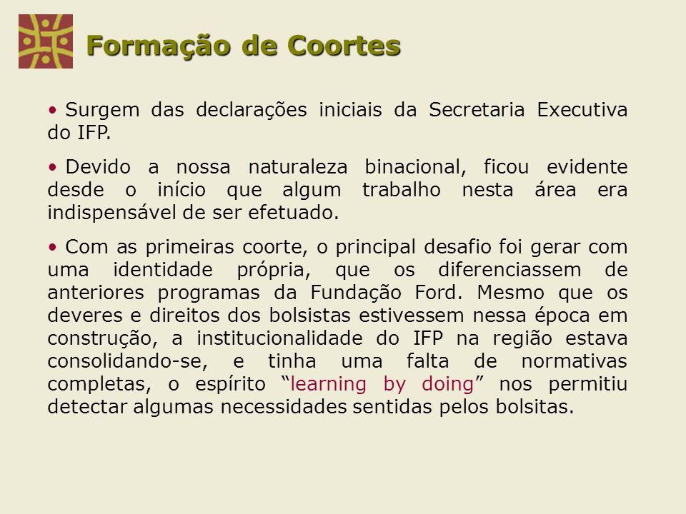 Formação de Coortes Surgem das declarações iniciais da Secretaria Executiva do IFP.