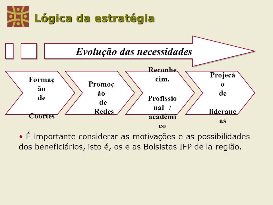 Evolução das necessidades Profissio nal / acadêmi co