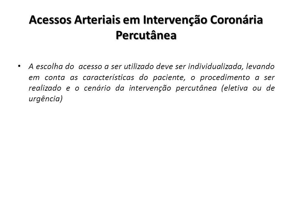 Acessos Arteriais em Intervenção Coronária Percutânea