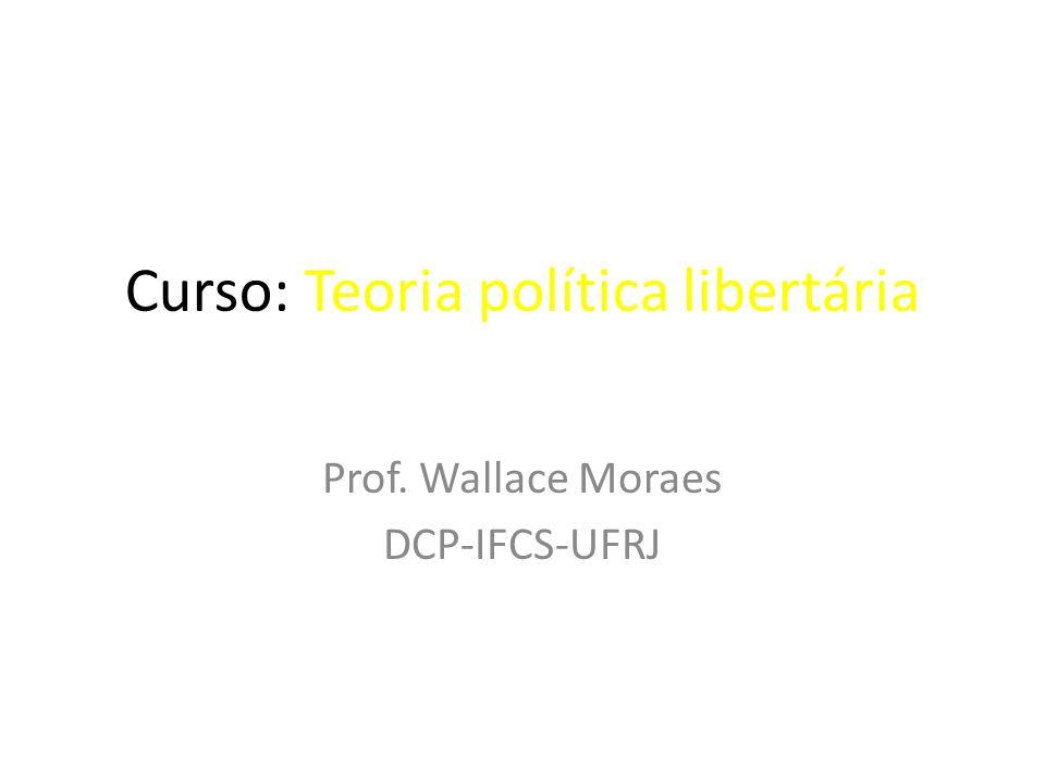 Curso: Teoria política libertária