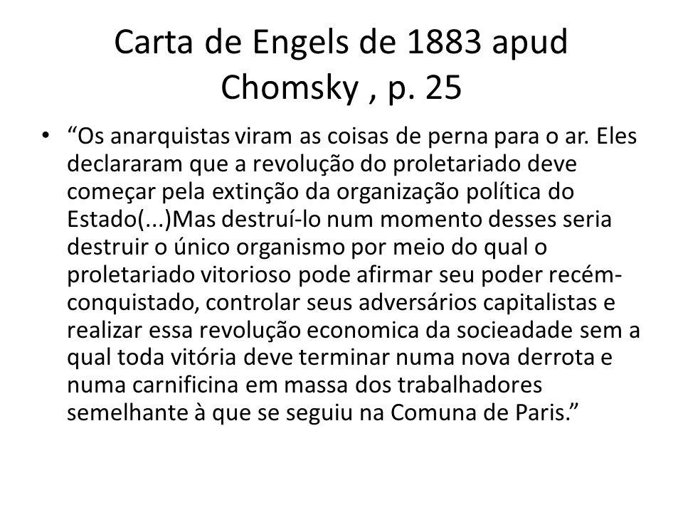 Carta de Engels de 1883 apud Chomsky , p. 25