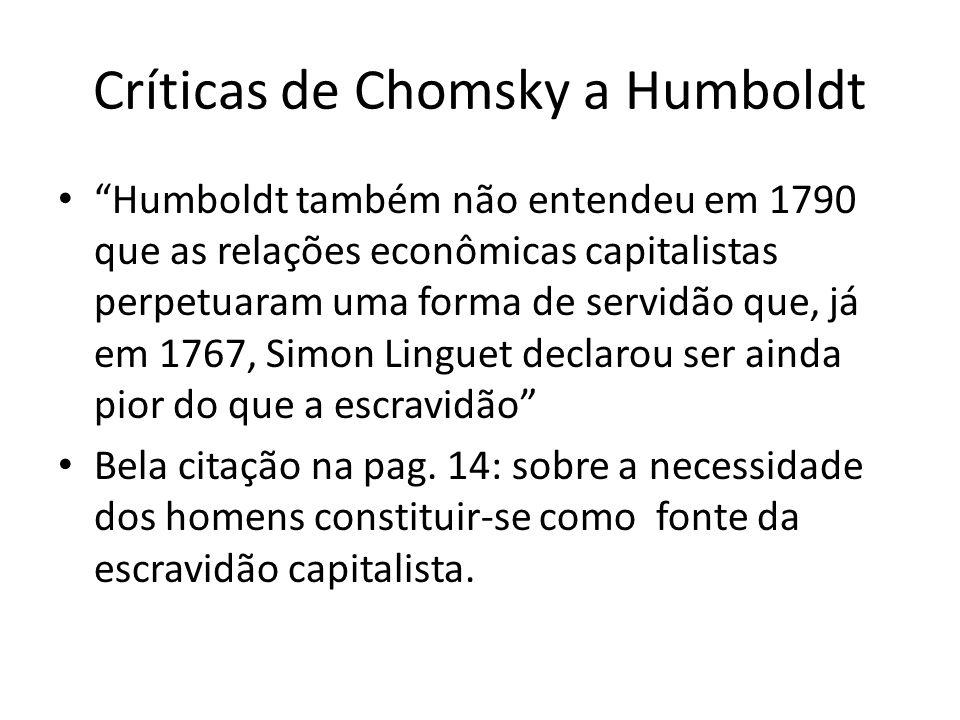 Críticas de Chomsky a Humboldt