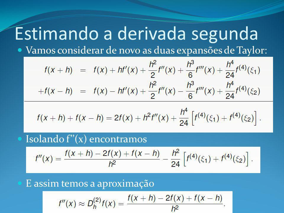Estimando a derivada segunda
