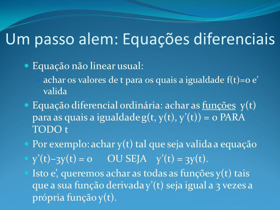 Um passo alem: Equações diferenciais