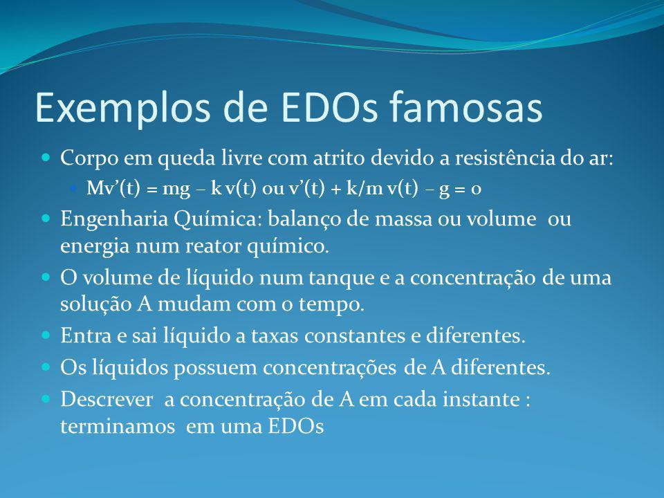 Exemplos de EDOs famosas