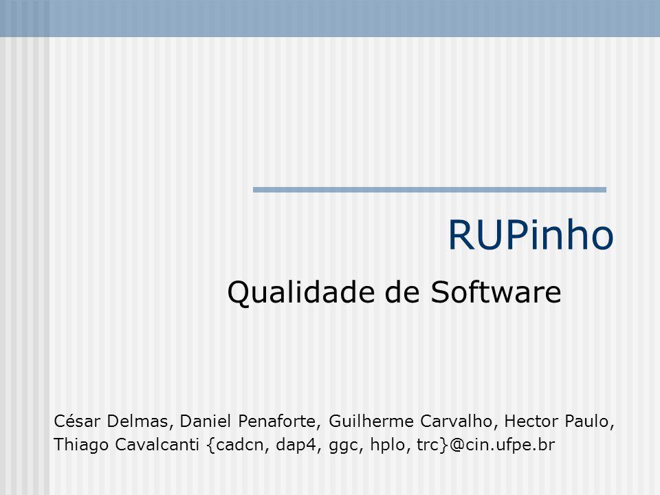 RUPinho Qualidade de Software