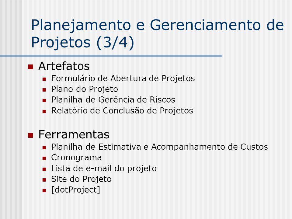Planejamento e Gerenciamento de Projetos (3/4)