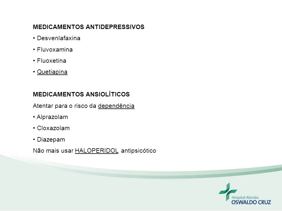 MEDICAMENTOS ANTIDEPRESSIVOS
