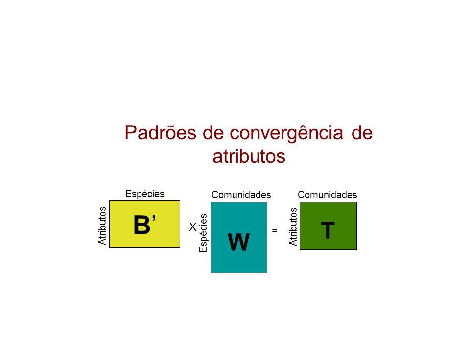 Padrões de convergência de atributos