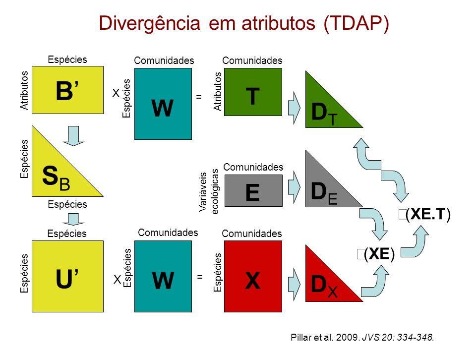 Divergência em atributos (TDAP)