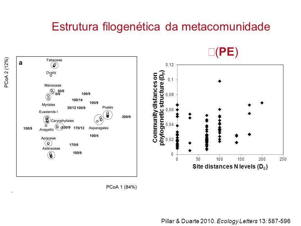 Estrutura filogenética da metacomunidade