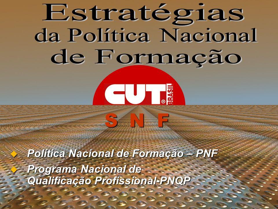 S N F Estratégias da Política Nacional de Formação