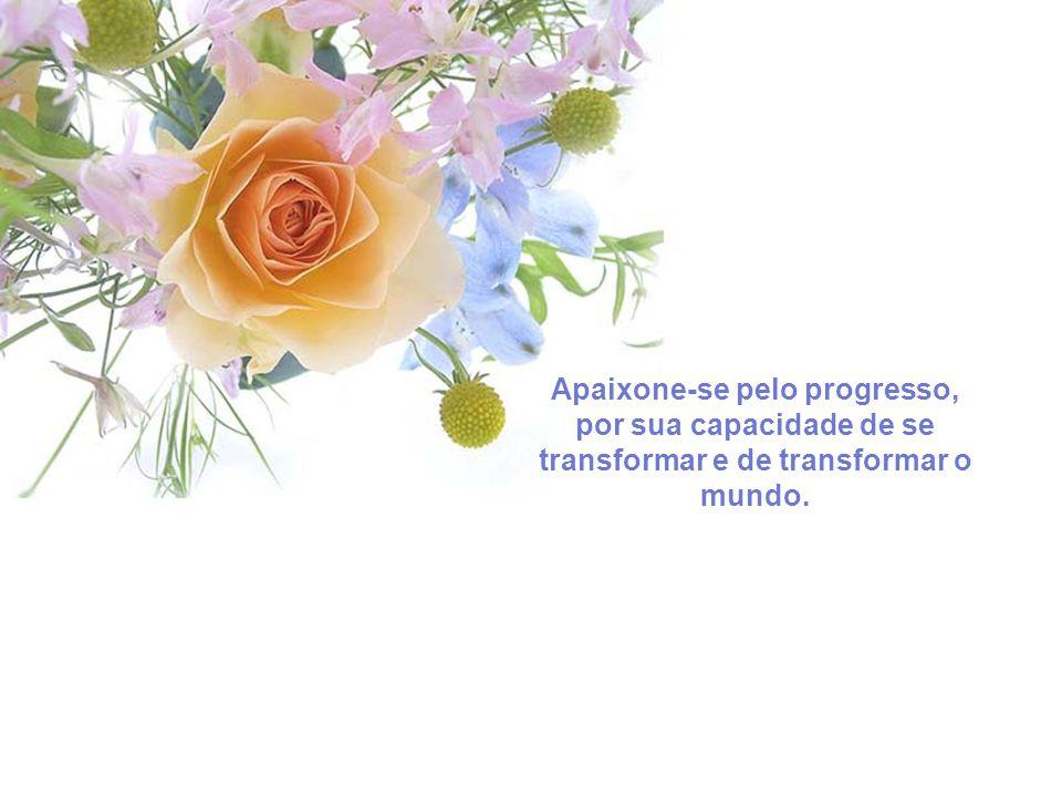 Apaixone-se pelo progresso, por sua capacidade de se transformar e de transformar o mundo.