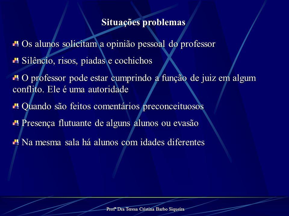 Profª Dra Teresa Cristina Barbo Siqueira