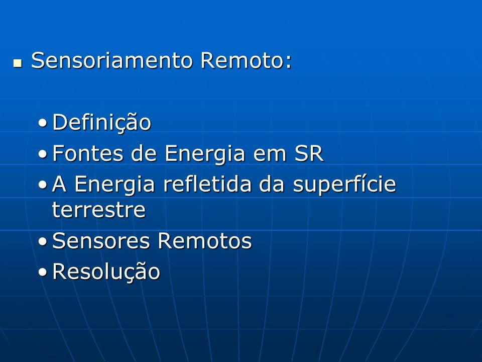 Sensoriamento Remoto:
