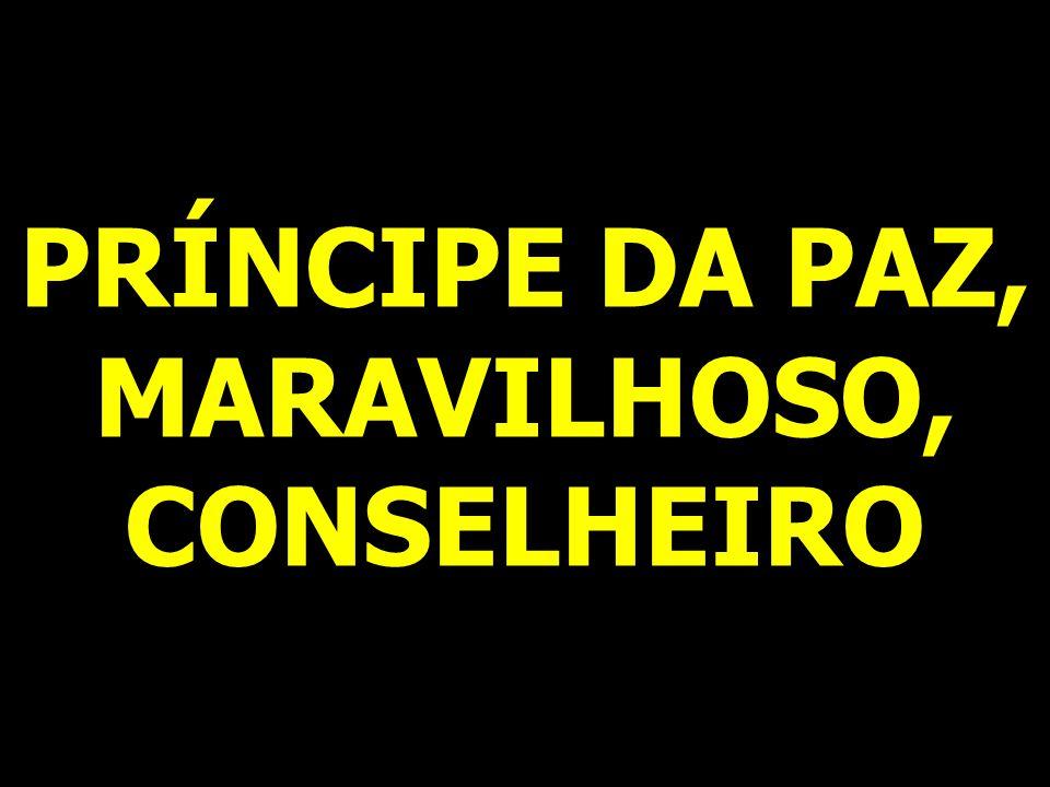 PRÍNCIPE DA PAZ, MARAVILHOSO, CONSELHEIRO