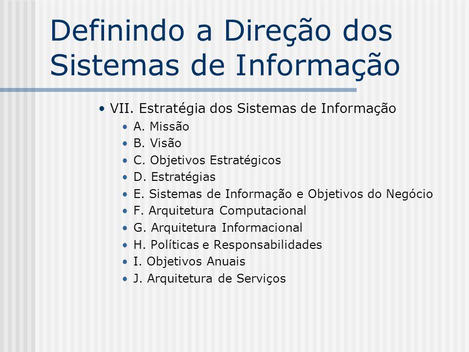 Definindo a Direção dos Sistemas de Informação