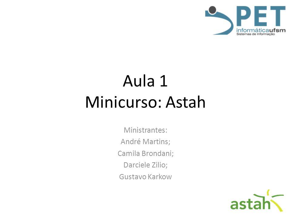 Aula 1 Minicurso: Astah Ministrantes: André Martins; Camila Brondani;