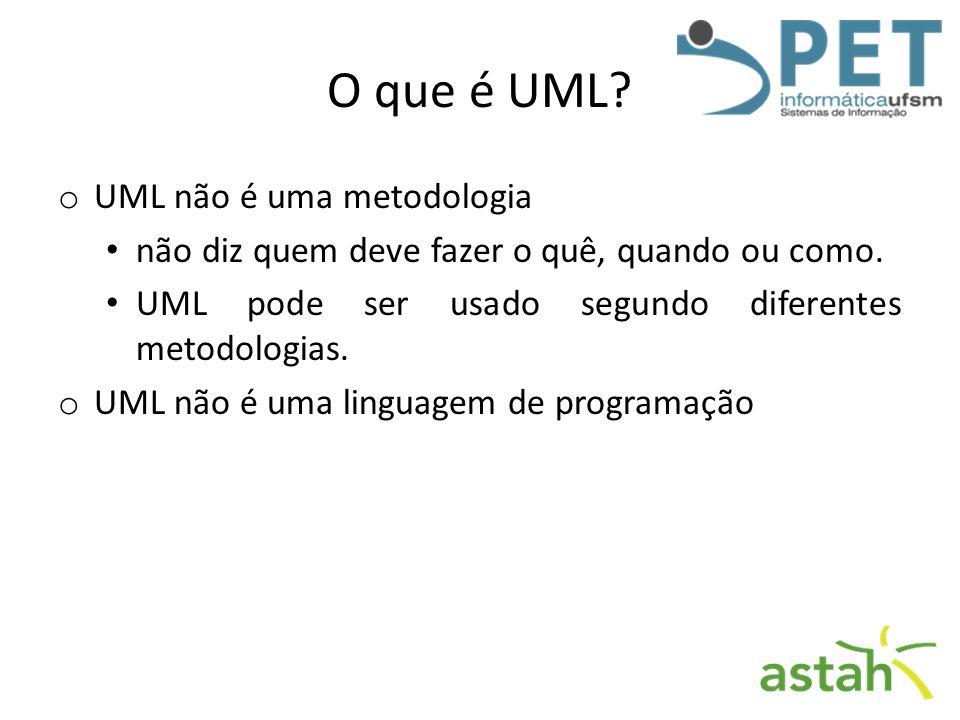 O que é UML UML não é uma metodologia