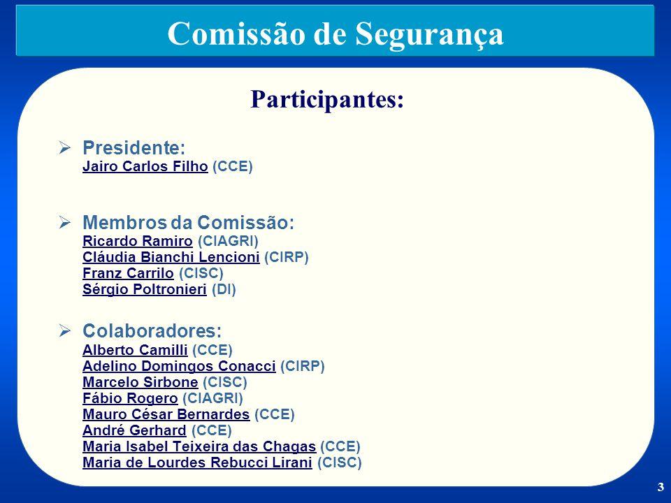Comissão de Segurança Participantes:
