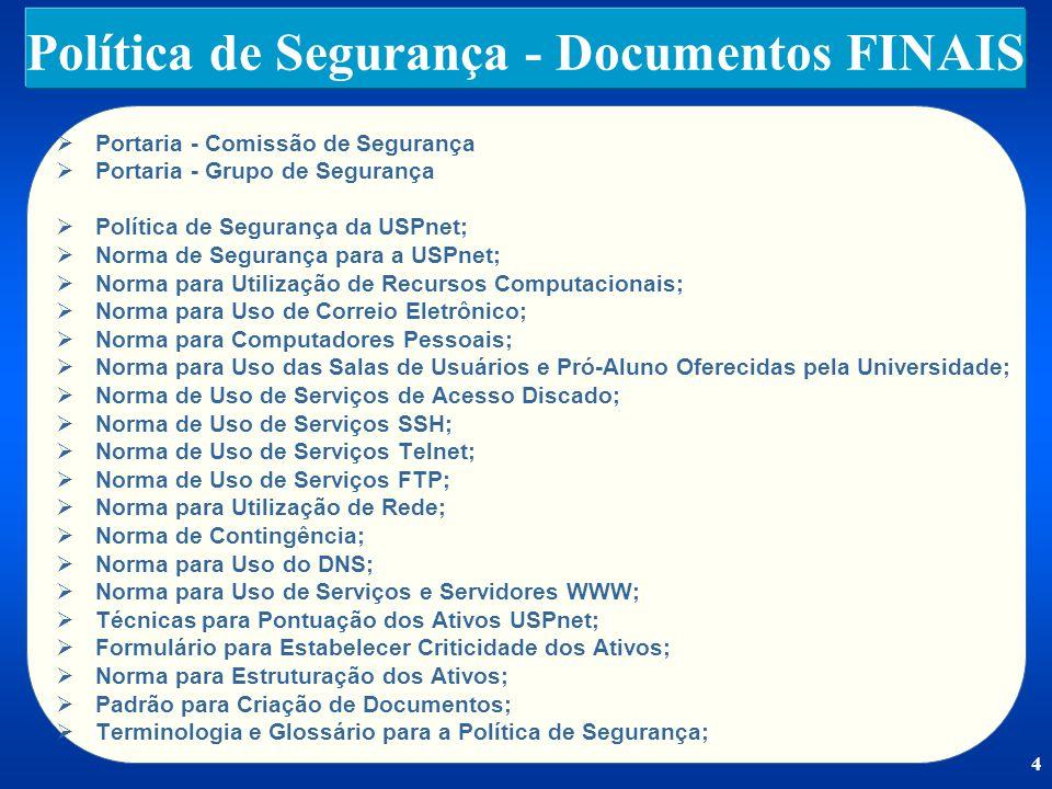 Política de Segurança - Documentos FINAIS