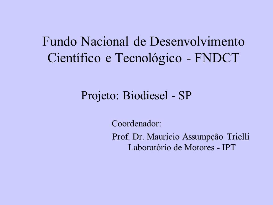 Fundo Nacional de Desenvolvimento Científico e Tecnológico - FNDCT