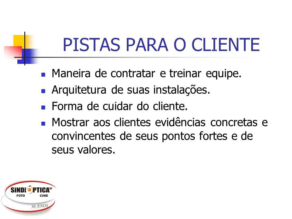 PISTAS PARA O CLIENTE Maneira de contratar e treinar equipe.