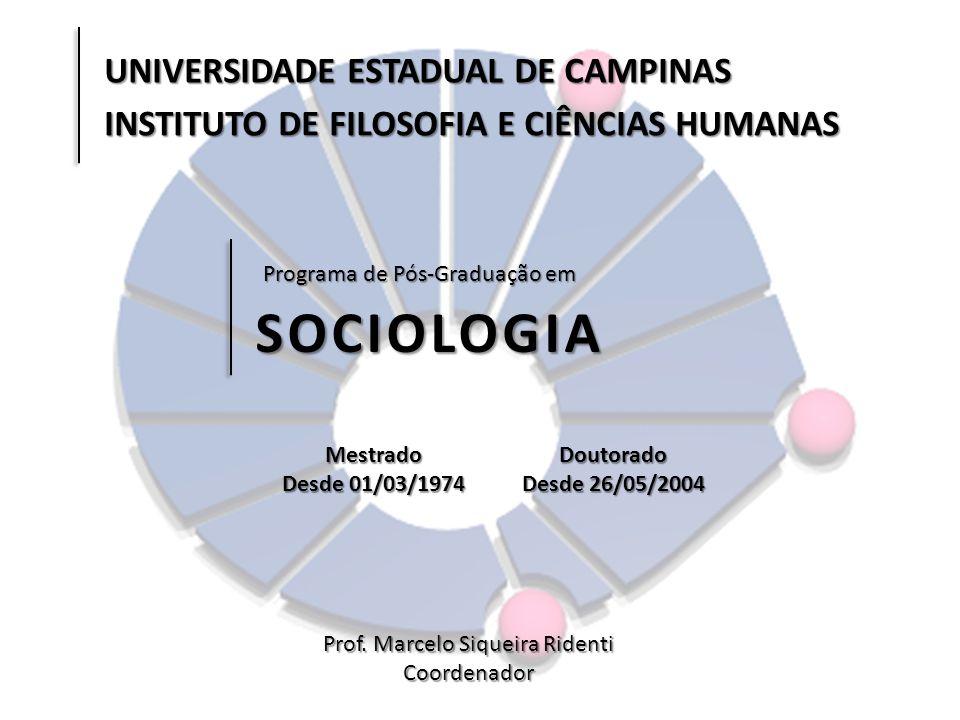 SOCIOLOGIA UNIVERSIDADE ESTADUAL DE CAMPINAS