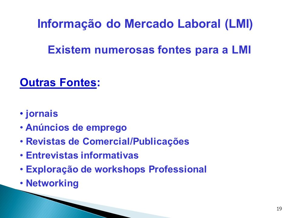 Informação do Mercado Laboral (LMI)