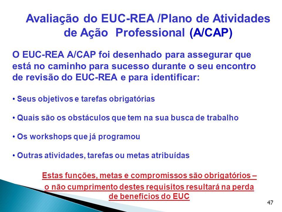 Avaliação do EUC-REA /Plano de Atividades de Ação Professional (A/CAP)