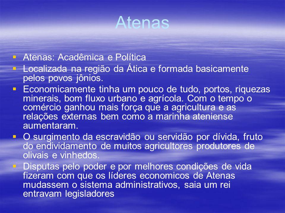 Atenas Atenas: Acadêmica e Política